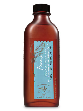 Aromatherapy Focus - Eucalyptus & Tea Nourishing Body Oil - Bath And Body Works