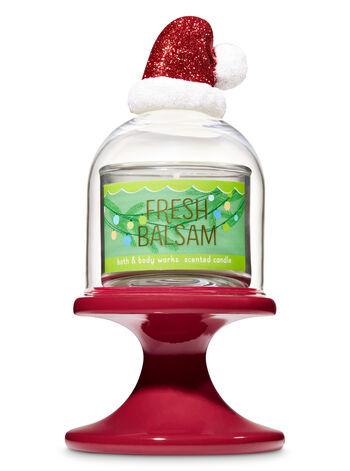 Santa Hat Cloche Pedestal Mini Candle Holder - Bath And Body Works