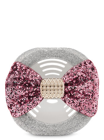 Glittery Pink Bow Vent Clip Scentportable Holder