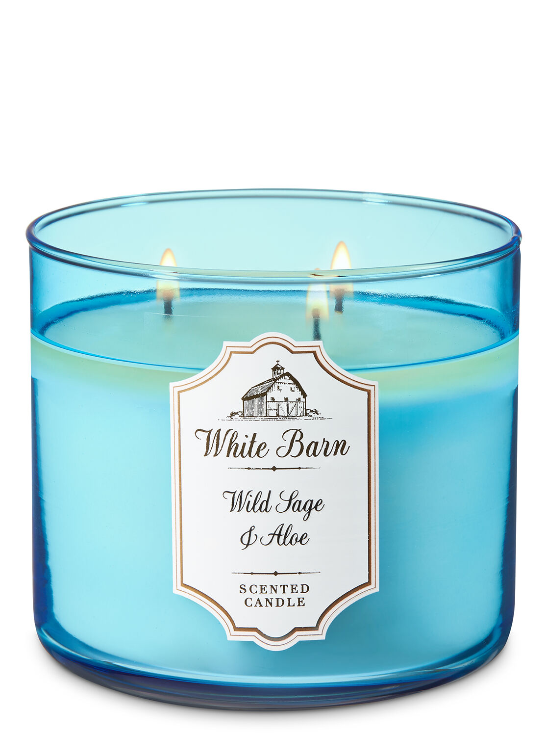 Bergamot Waters 3-Wick Candle - White Barn | Bath  for Blue Candle White Background  113cpg