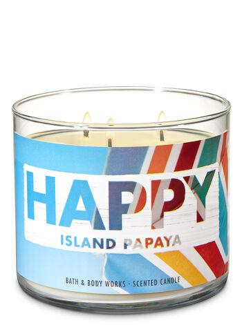 Island Papaya 3-Wick Candle - Bath And Body Works
