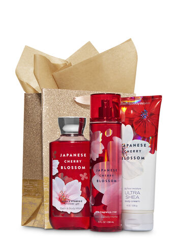 Japanese Cherry Blossom Gold Glitter Gift Kit - Bath And Body Works