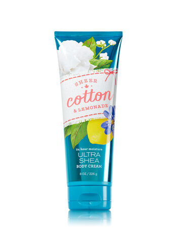 Signature Collection Sheer Cotton & Lemonade Body Cream - Bath And Body Works