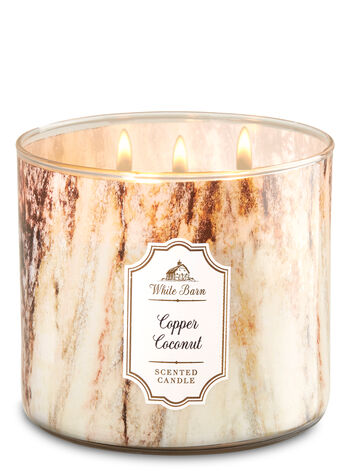 Copper Coconut 3-Wick Candle - Bath And Body Works