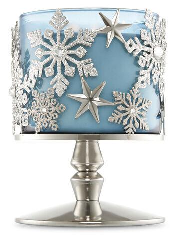 Snowflake Pedestal 3-Wick Candle Sleeve