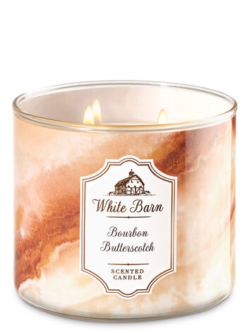 White Barn Bourbon Butterscotch 3-Wick Candle - Bath And Body Works