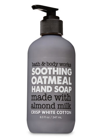 Crisp White Cotton Soothing Oatmeal Hand Soap - Bath And Body Works