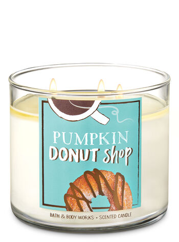 Pumpkin Donut Shop 3-Wick Candle - Bath And Body Works