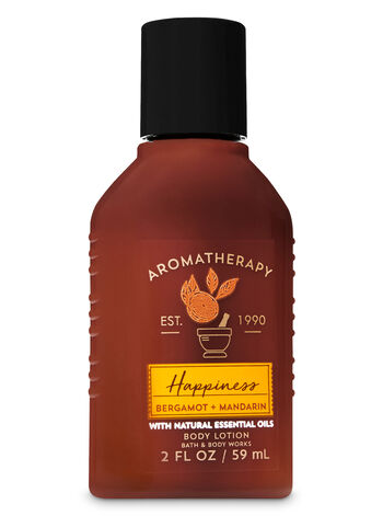 Aromatherapy Happiness - Bergamot & Mandarin Travel Size Body Lotion - Bath And Body Works