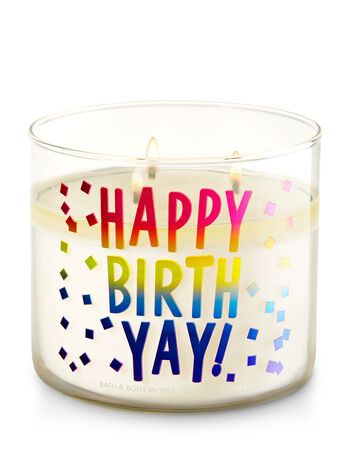 Happy Birth-Yay - Midnight Blue Citrus 3-Wick Candle - Bath And Body Works