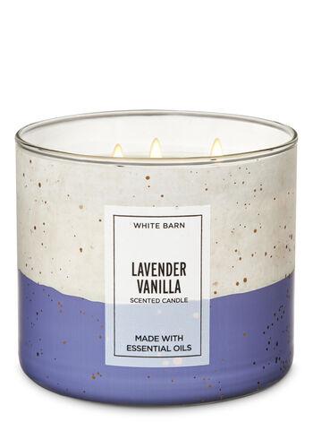White Barn Lavender Vanilla 3-Wick Candle - Bath And Body Works