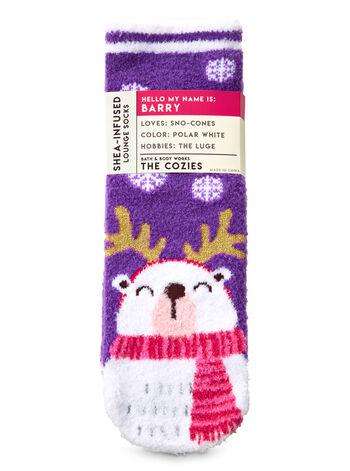 Barry the Polar Bear Shea-Infused Lounge Socks