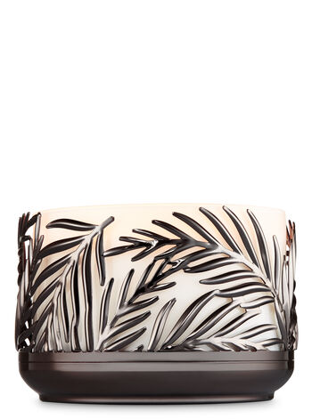Palm Fronds Low Profile 3-Wick Candle Holder - Bath And Body Works