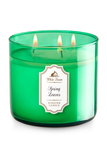 Spring Leaves 3-Wick Candle - Bath And Body Works