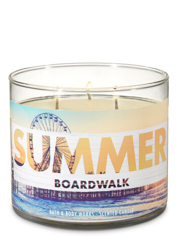 Summer Boardwalk 3-Wick Candle - Bath And Body Works