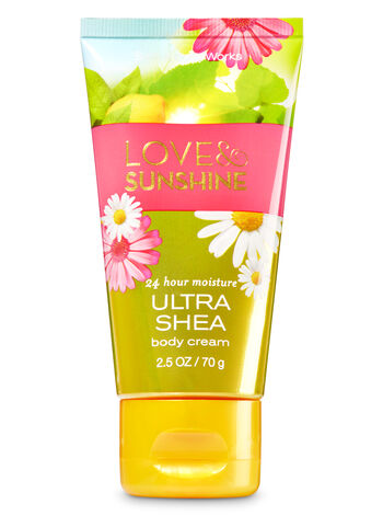 Signature Collection Love & Sunshine Travel Size Body Cream - Bath And Body Works
