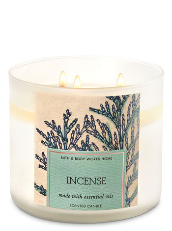 Incense 3-Wick Candle - Bath And Body Works
