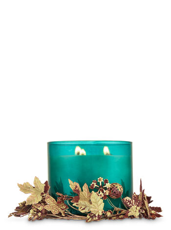 Golden Leaves 3-Wick Candle Sleeve
