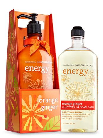 Aromatherapy Orange Ginger Lather & Lotion Gift Set - Bath And Body Works