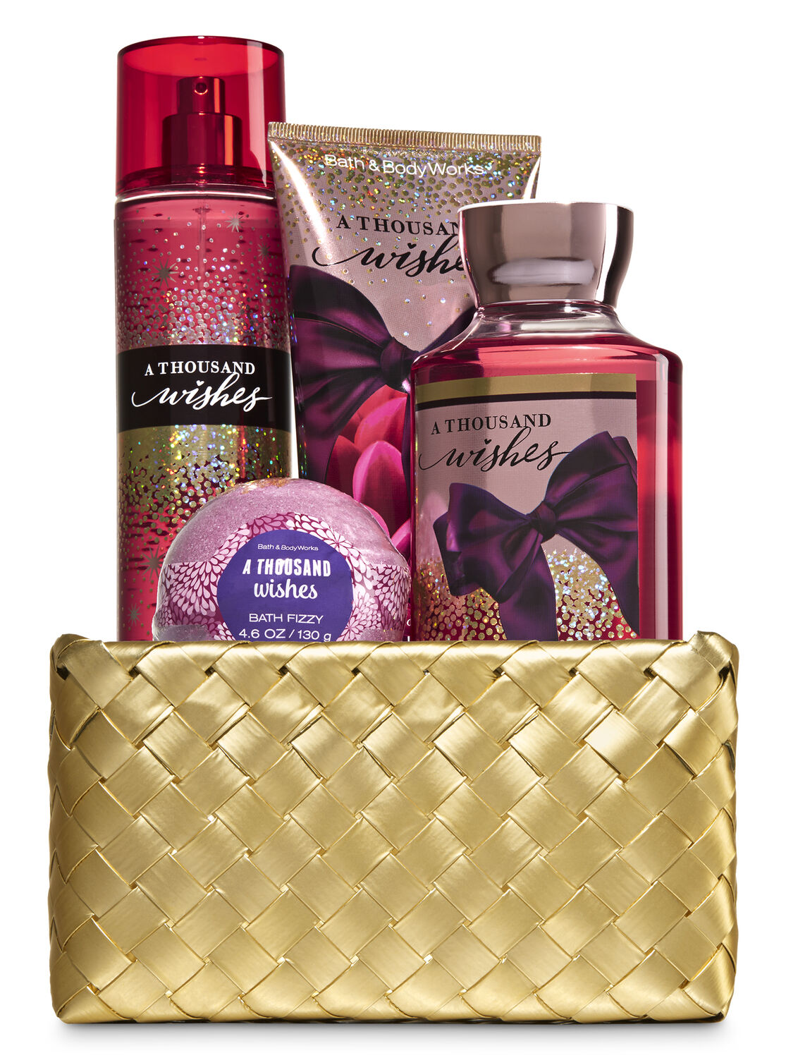 A Thousand Wishes Gold Woven Basket Gift Kit | Bath & Body Works