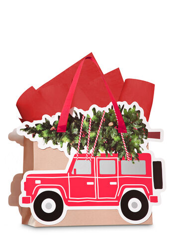 Truck Tree Trimmer Medium Gift Bag - Bath And Body Works
