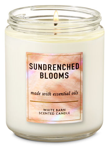 Sundrenched Blooms Single Wick Candle - Bath And Body Works