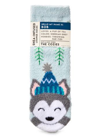 Bob the Husky Shea-Infused Lounge Socks