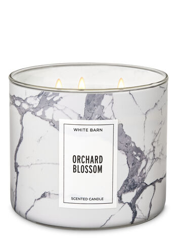 White Barn Orchard Blossom 3-Wick Candle - Bath And Body Works