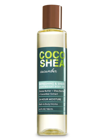 Signature Collection CocoShea Cucumber Lightweight Body Oil - Bath And Body Works