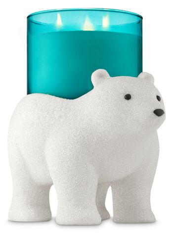 Glittery Polar Bear Pedestal 3-Wick Candle Holder - Bath And Body Works