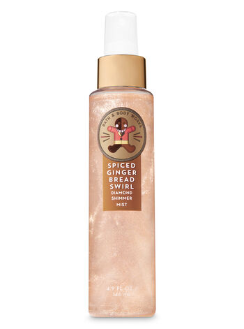 Signature Collection Spiced Gingerbread Swirl Diamond Shimmer Mist - Bath And Body Works