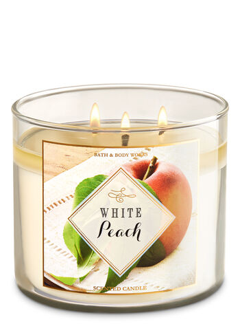 White Peach 3-Wick Candle - Bath And Body Works