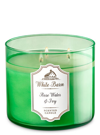 White Barn Rose Water & Ivy 3-Wick Candle - Bath And Body Works