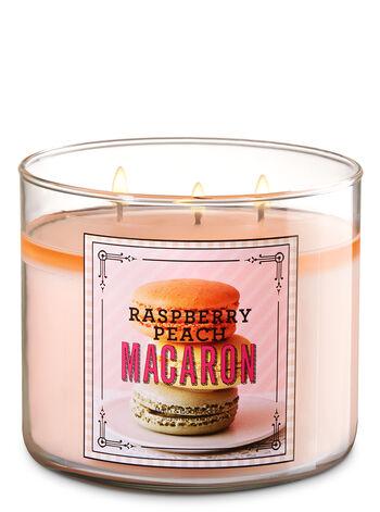 Raspberry Peach Macaron 3-Wick Candles - Bath And Body Works