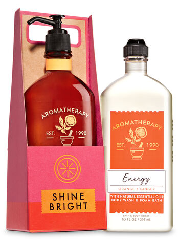 Aromatherapy Orange & Ginger Shine Bright Gift Set - Bath And Body Works