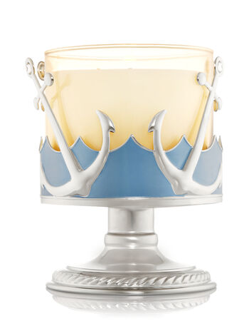 Anchors & Waves Pedestal 3-Wick Candle Sleeve