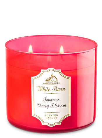 White Barn Japanese Cherry Blossom 3-Wick Candle - Bath And Body Works