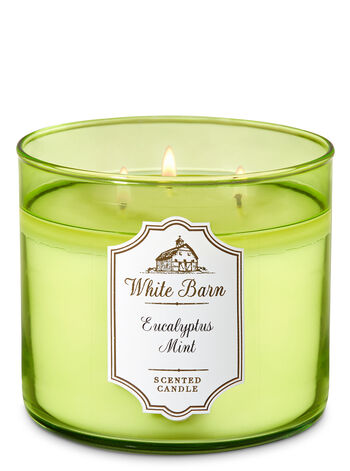 White Barn Eucalyptus Mint 3-Wick Candle - Bath And Body Works