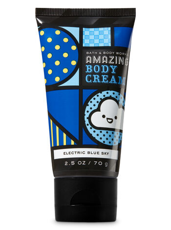 Signature Collection Electric Blue Sky Travel Size Amazing Body Cream - Bath And Body Works