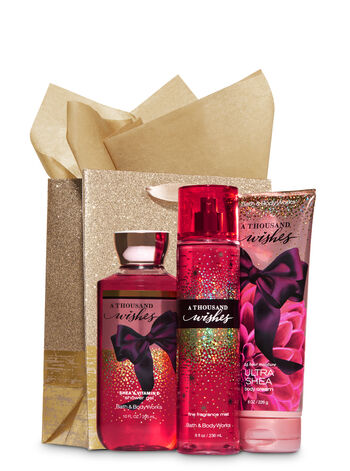 A Thousand Wishes Gold Glitter Gift Kit - Bath And Body Works