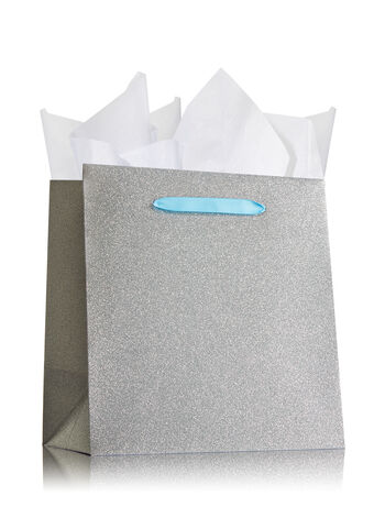 Silver Glitter Large Gift Bag - Bath And Body Works