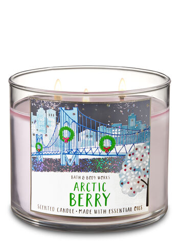 Arctic Berry 3-Wick Candle - Bath And Body Works