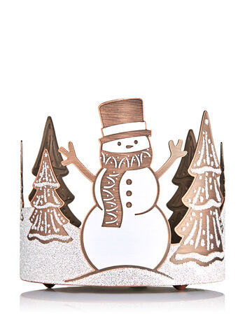 Frosted Snowman 3-Wick Candle Sleeve