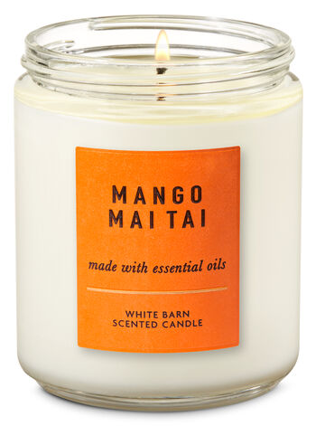 Mango Mai Tai Single Wick Candle - Bath And Body Works