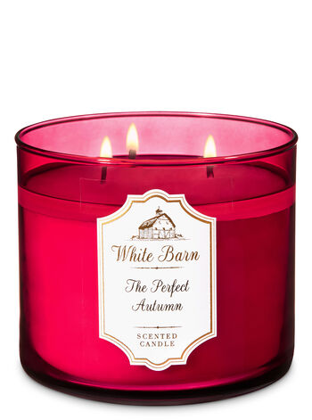 White Barn The Perfect Autumn 3-Wick Candle - Bath And Body Works