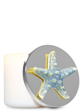 Sparkly Blue Starfish 3-Wick Candle Magnet - Bath And Body Works