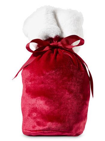 Santa Drawstring Gift Bag - Bath And Body Works