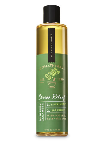 Aromatherapy Stress Relief - Eucalyptus & Spearmint Oil To Cream Cleanser - Bath And Body Works