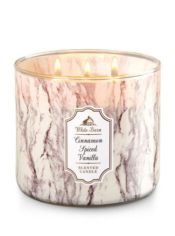 Cinnamon Spiced Vanilla 3-Wick Candle - Bath And Body Works