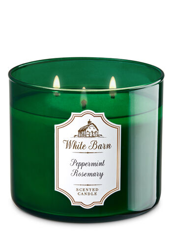 White Barn Peppermint & Rosemary 3-Wick Candle - Bath And Body Works